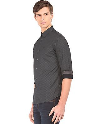 Flying Machine French Placket Printed Shirt