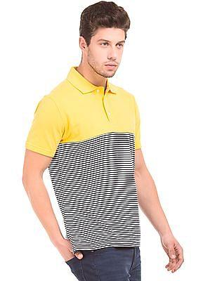 Nautica Slim Fit Colour Block Polo Shirt