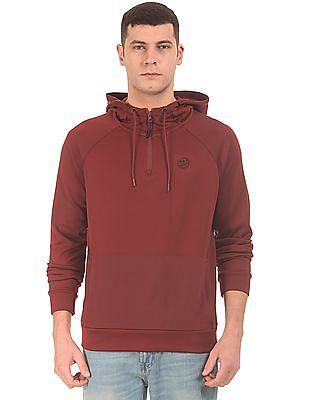 Aeropostale Half Zip Hooded Sweatshirt