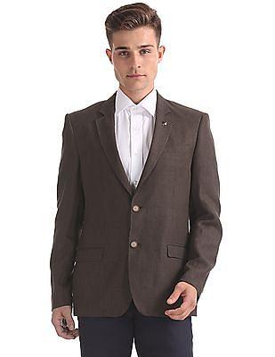 Arrow Textured Linen Blazer