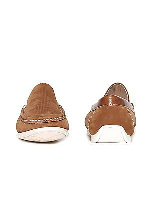 Aeropostale Contrast Sole Textured Slip On Shoes
