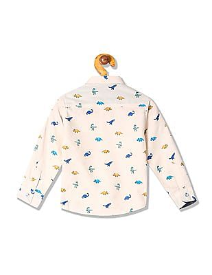 Donuts Boys Printed Shirt With Bow