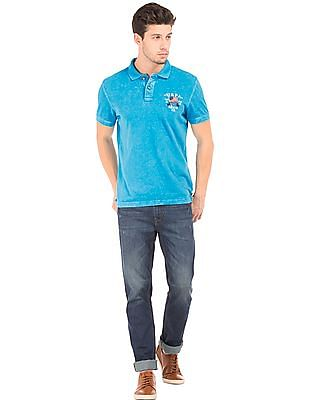 U.S. Polo Assn. Denim Co. Washed Muscle Fit Polo Shirt