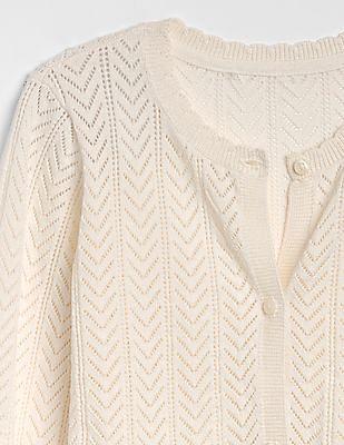 GAP Girls Pointelle Cardigan Sweater