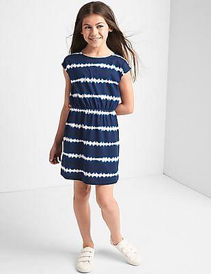GAP Girls Print Cross Back Cap Dress