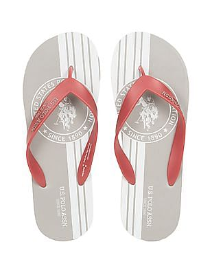 U.S. Polo Assn. Denim Co. Printed Footbed Flip Flops