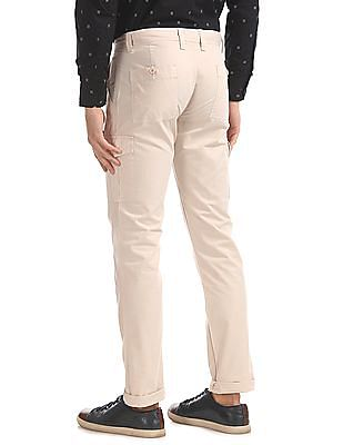 Izod Slim Fit Solid Cargo Trousers