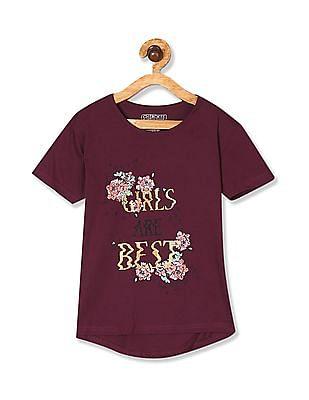 Cherokee Girls Short Sleeve Printed T-Shirt