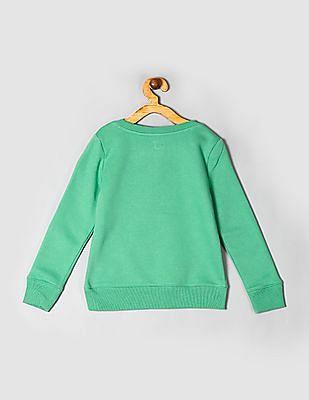GAP Green Girls Logo Sweatshirt