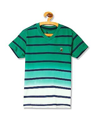 U.S. Polo Assn. Kids Boys Standard Fit Striped T-Shirt