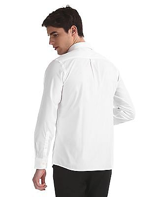 Arrow White Patch Pocket Solid Shirt