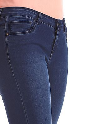 Cherokee Blue Mid Rise Skinny Fit Jeans
