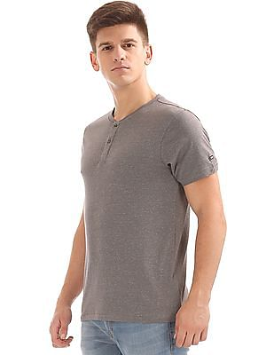 Arrow Sports Regular Fit Henley T-Shirt
