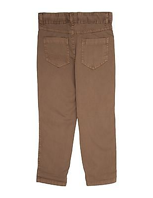 Cherokee Boys Solid Cotton Stretch Trousers