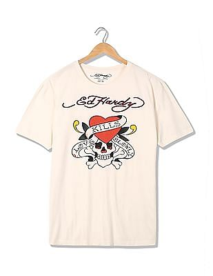 Ed Hardy Regular Fit Studded T-Shirt