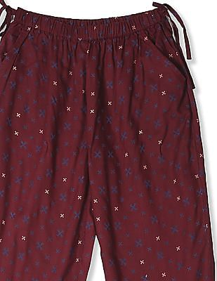 Cherokee Red Girls Elasticized Hem Printed Pants