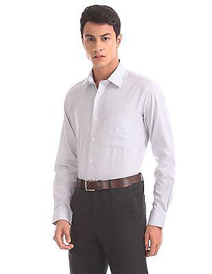 Arrow Regular Fit Patterned Stripe Shirt