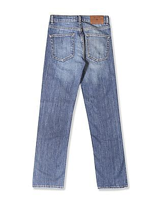 Gant Boys Mid Rise Washed Jeans