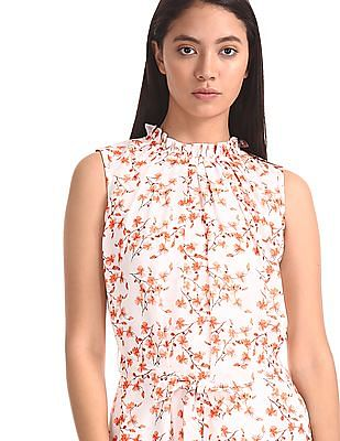 Elle Studio Floral Print Belted Dress