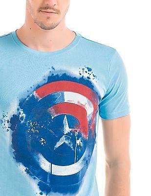 Colt Captain America Print T-Shirt