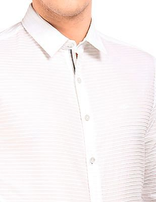 Flying Machine French Placket Striped Shirt