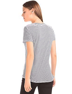 GAP Stripe Vintage Wash Pocket Tee