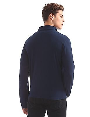 Flying Machine Half Zip Fleece Sweatshirt