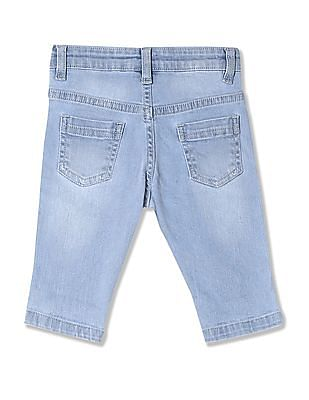Donuts Girls Crochet Panel 3/4th Jeans