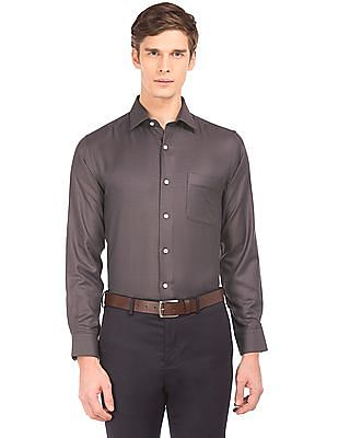 Arrow French Placket Jacquard Shirt