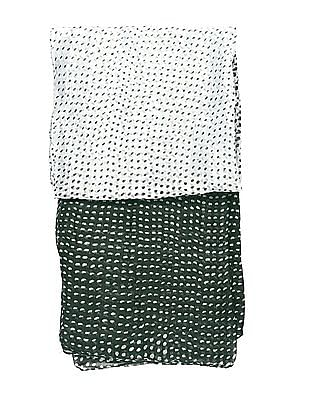 SUGR Green Printed Cotton Stole
