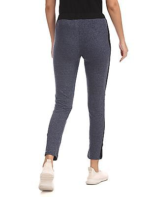 SUGR Blue Heathered Active Track Pants