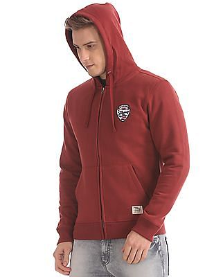 Flying Machine Hooded Zip Up Sweatshirt