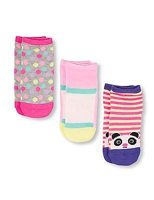 The Children's Place Toddler Girl Assorted Panda Midi Socks 3-Pack