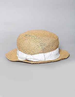 GAP Girls Eyelet Straw Fedora