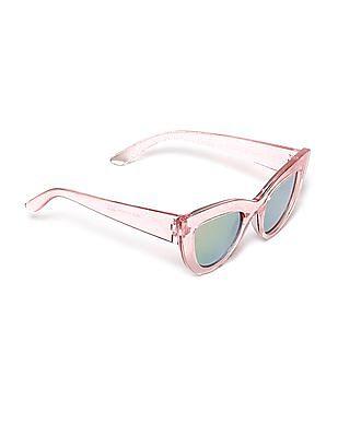 The Children's Place Pink Girls Glittery Cateye Frame Sunglasses