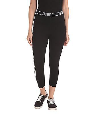 EdHardy Women Elasticized Waist Printed Leggings