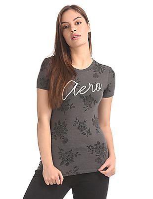 Aeropostale Regular Fit Floral Print T-Shirt