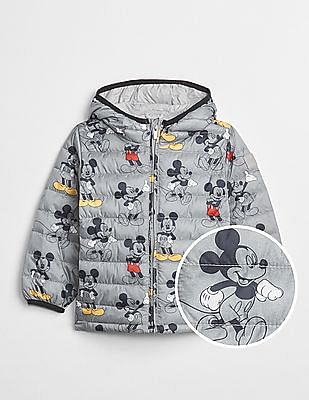 GAP Baby Disney Mickey Mouse Cold Control Lite Puffer Jacket