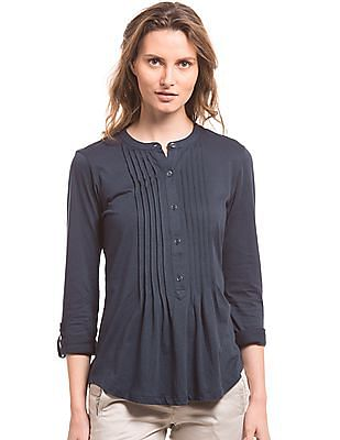 Nautica Tucked Front Knitted Top