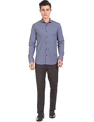 USPA Tailored Printed Slim Fit Shirt