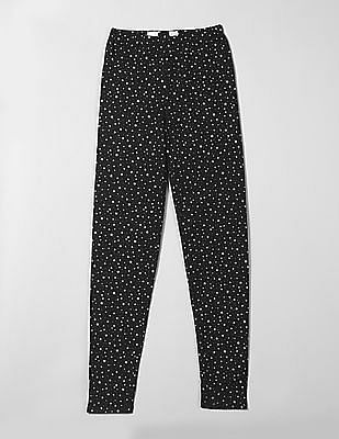 GAP Girls Soft Terry Star Print Leggings