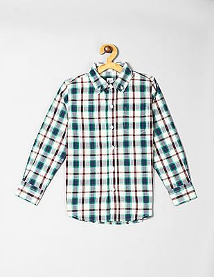 GAP Multi Colour Boys Plaid Poplin Shirt