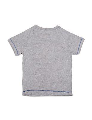Colt Boys Melange Mickey Print T-Shirt