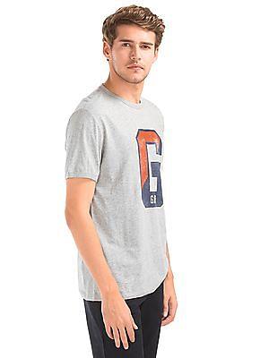 GAP Men Grey Large G Logo Tee