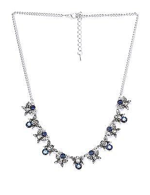 Unlimited Embellished Floral Statement Necklace