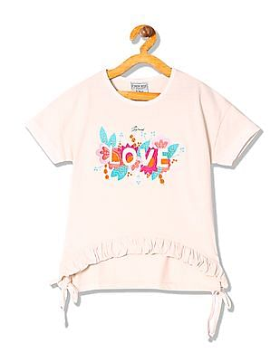 Cherokee Girls Embroidered Boxy Top