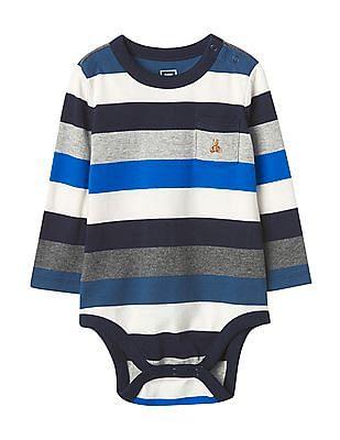GAP Baby Multi Colour Bright Stripe Bodysuit