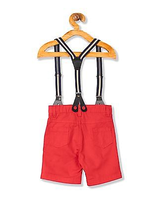 Donuts Boys Woven Shorts With Suspenders