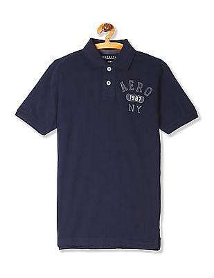 Aeropostale Short Sleeve Solid Polo Shirt