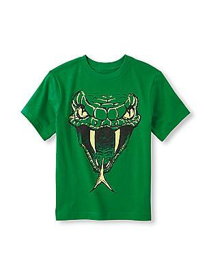 The Children's Place Boys Short Sleeve Snake Graphic Tee